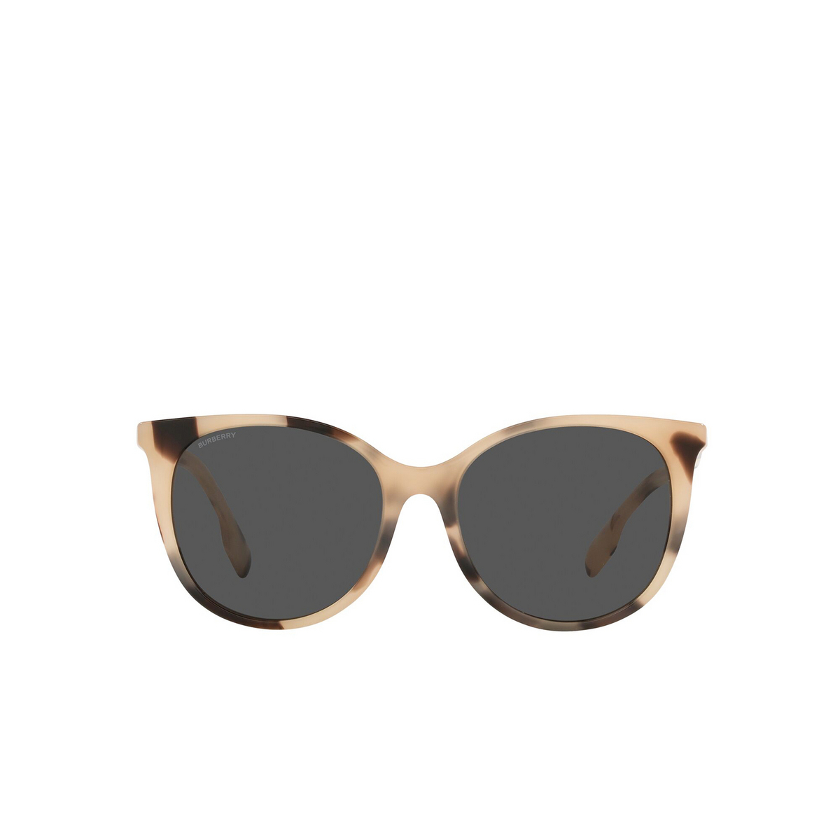 Burberry® Cat-eye Sunglasses: Alice BE4333 color Spotted Horn 350187 - front view.