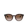 Burberry® Round Sunglasses: Amelia BE4326 color Dark Havana 300213 - product thumbnail 1/3.