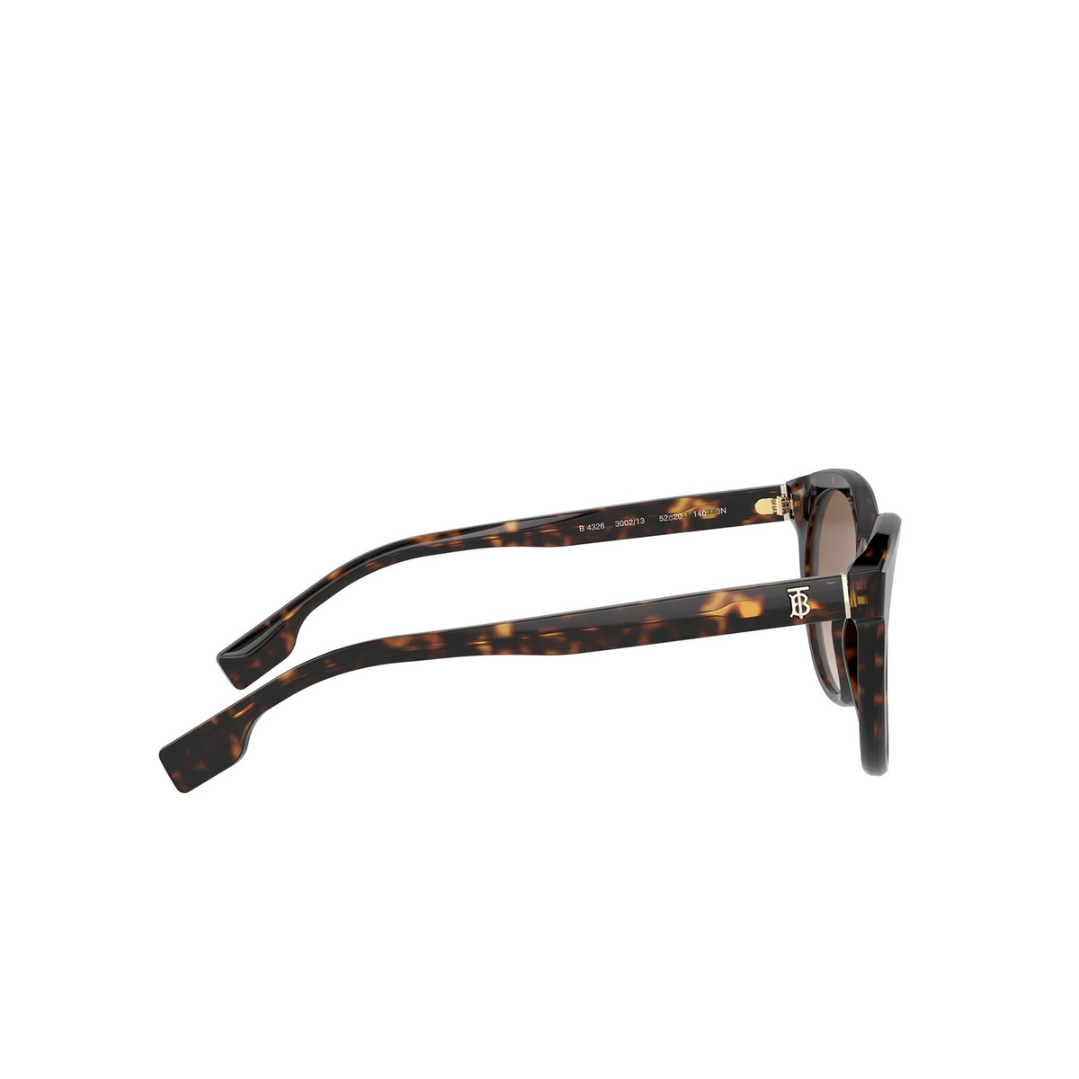 Burberry® Round Sunglasses: Amelia BE4326 color Dark Havana 300213 - 3/3.