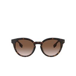Burberry® Round Sunglasses: Amelia BE4326 color Dark Havana 300213.