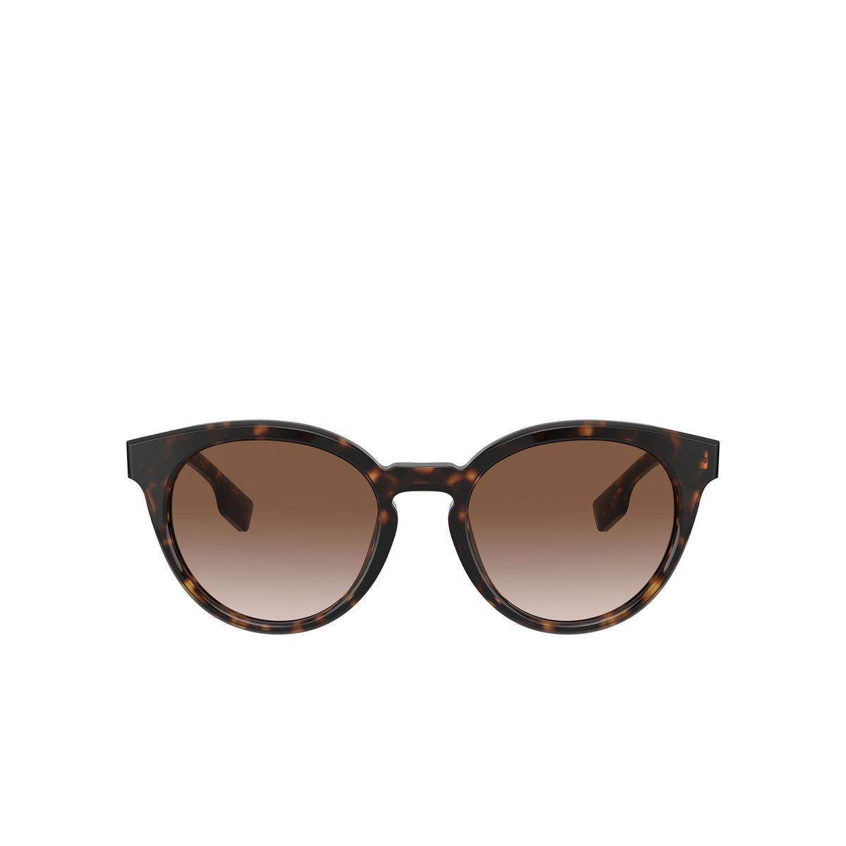 Burberry® Round Sunglasses: Amelia BE4326 color Dark Havana 300213 - front view.