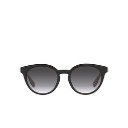 Burberry® Round Sunglasses: Amelia BE4326 color Black 38248G.