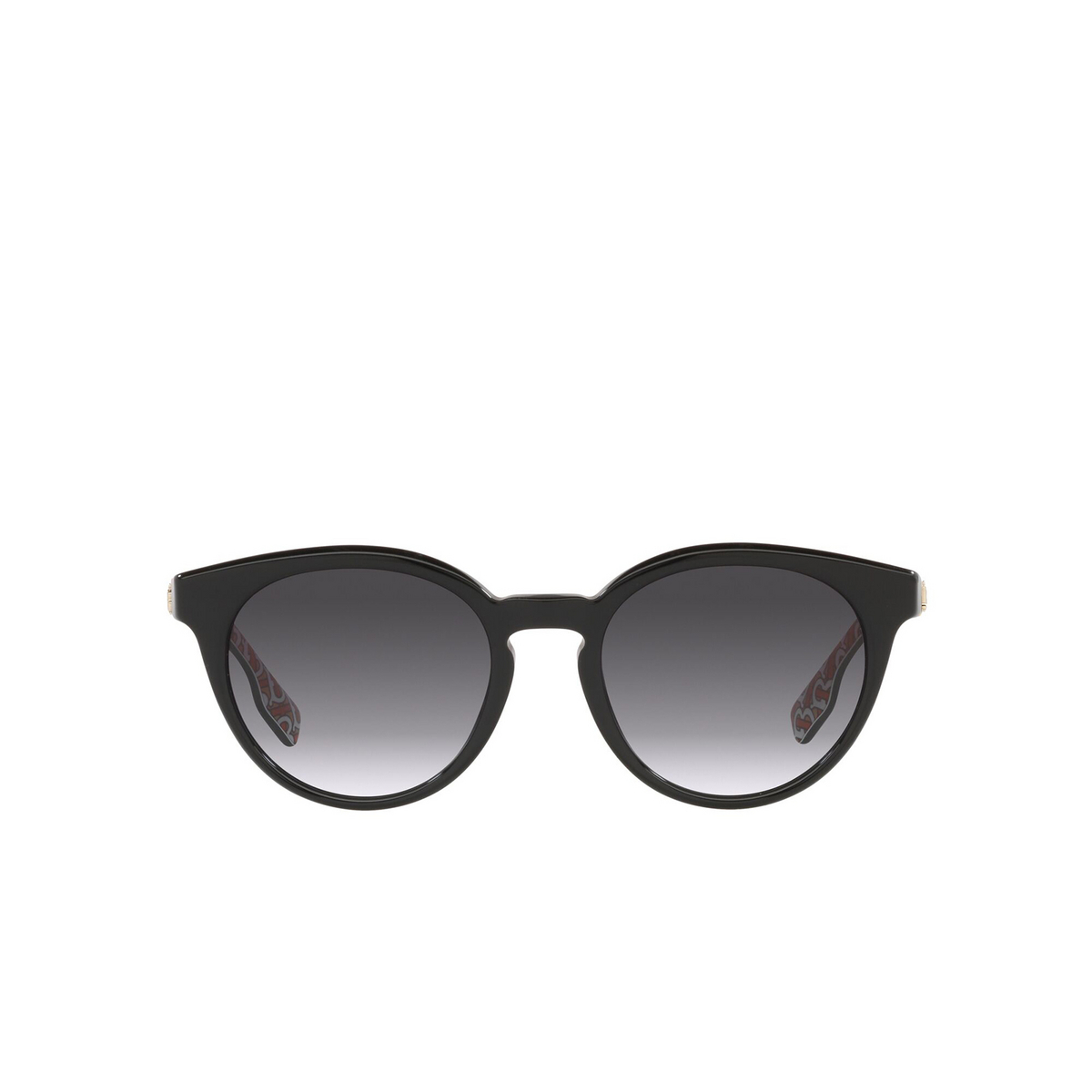Burberry® Round Sunglasses: Amelia BE4326 color Black 38248G - front view.