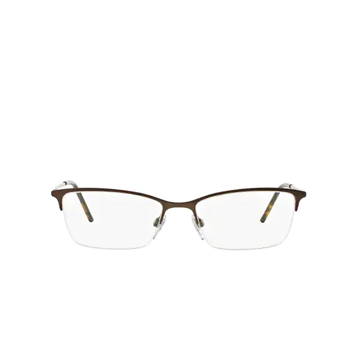 Burberry® Cat-eye Eyeglasses: BE1278 color Matte Brown 1012 - front view.
