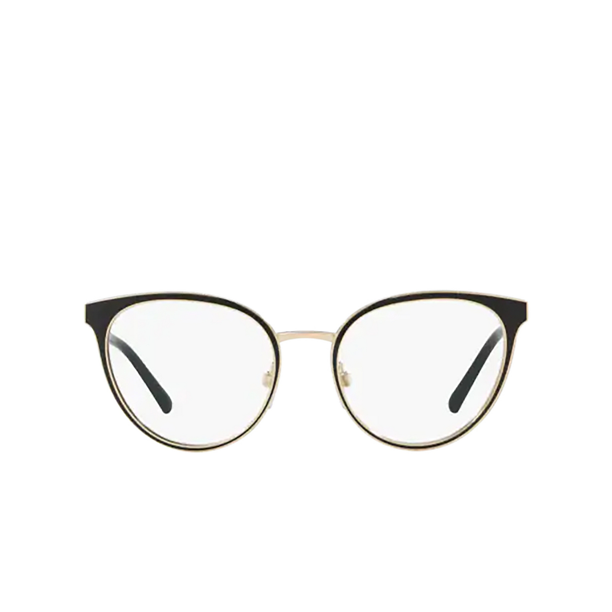 Burberry® Cat-eye Eyeglasses: BE1324 color Black / Light Gold 1262 - front view.