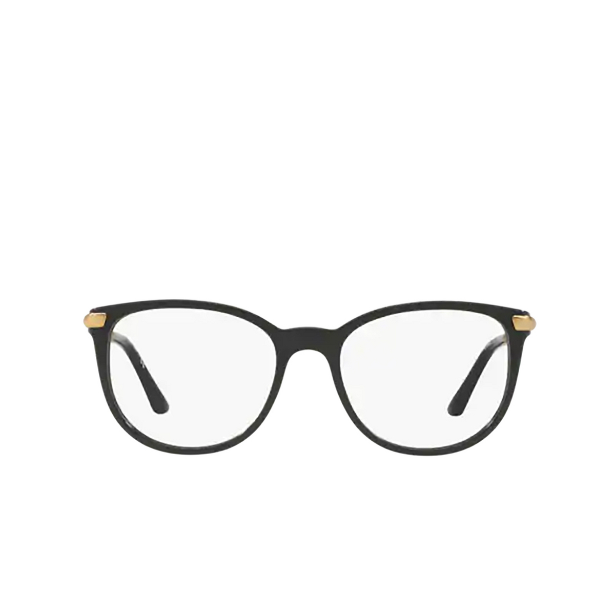 Burberry® Square Eyeglasses: BE2255Q color Black 3001 - front view.