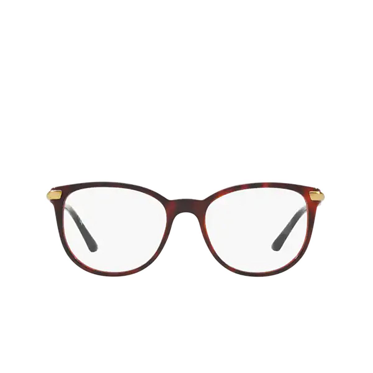Burberry® Square Eyeglasses: BE2255Q color Top Havana On Bordeaux 3657 - front view.