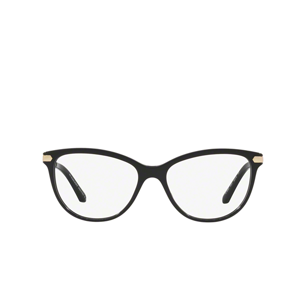 Burberry® Cat-eye Eyeglasses: BE2280 color Black 3001 - front view.