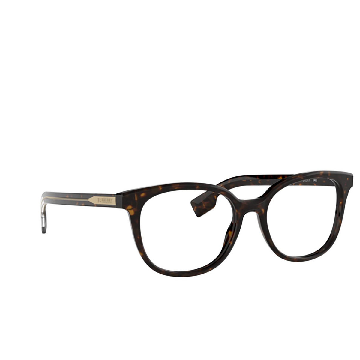 Burberry® Square Eyeglasses: BE2291 color Dark Havana 3762 - three-quarters view.