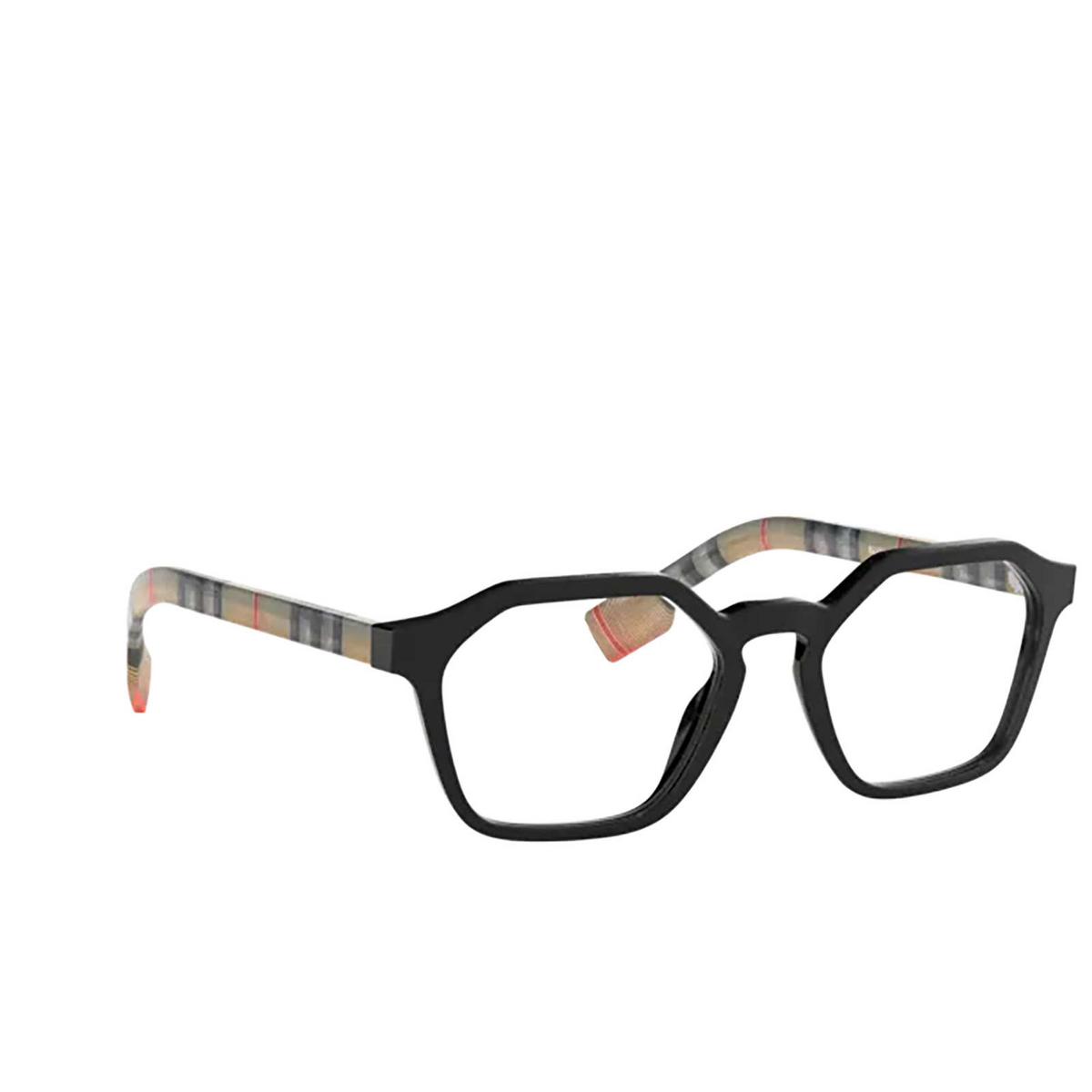 Burberry® Irregular Eyeglasses: BE2294 color Black 3757 - three-quarters view.