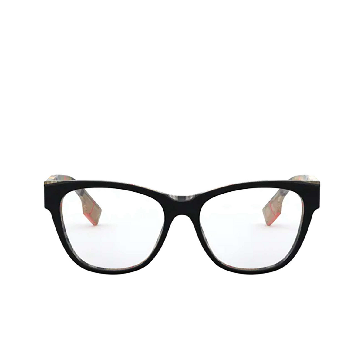 Burberry® Square Eyeglasses: BE2301 color Top Black On Vintage Check 3806 - front view.