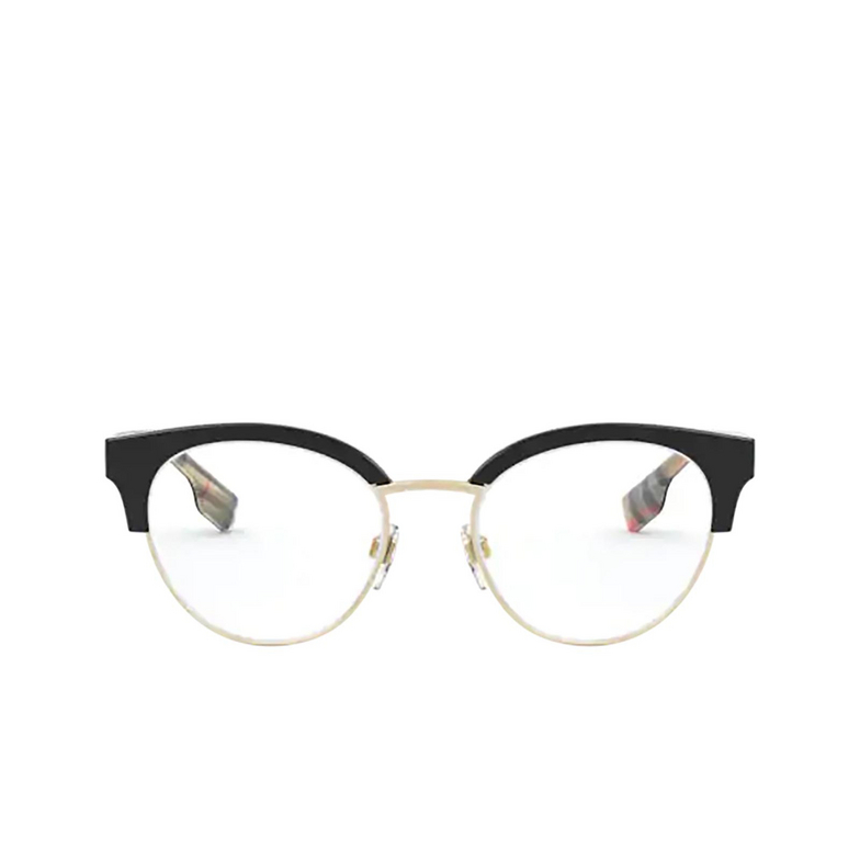 Burberry® Round Eyeglasses: BE2316 color Black / Pale Gold 3773.