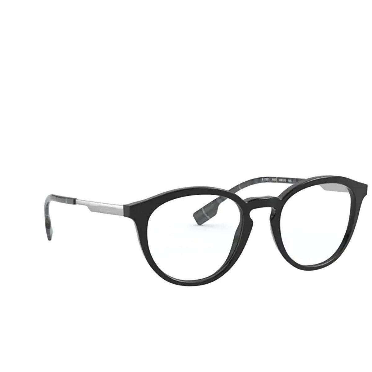 Burberry® Round Eyeglasses: Keats BE2321 color Black 3001 - three-quarters view.
