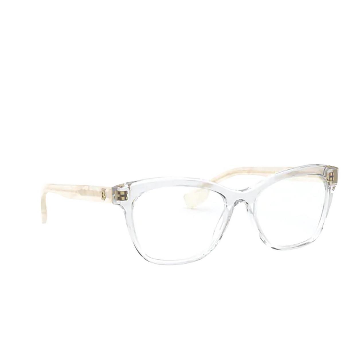 Burberry® Square Eyeglasses: Mildred BE2323 color Transparent 3896 - three-quarters view.