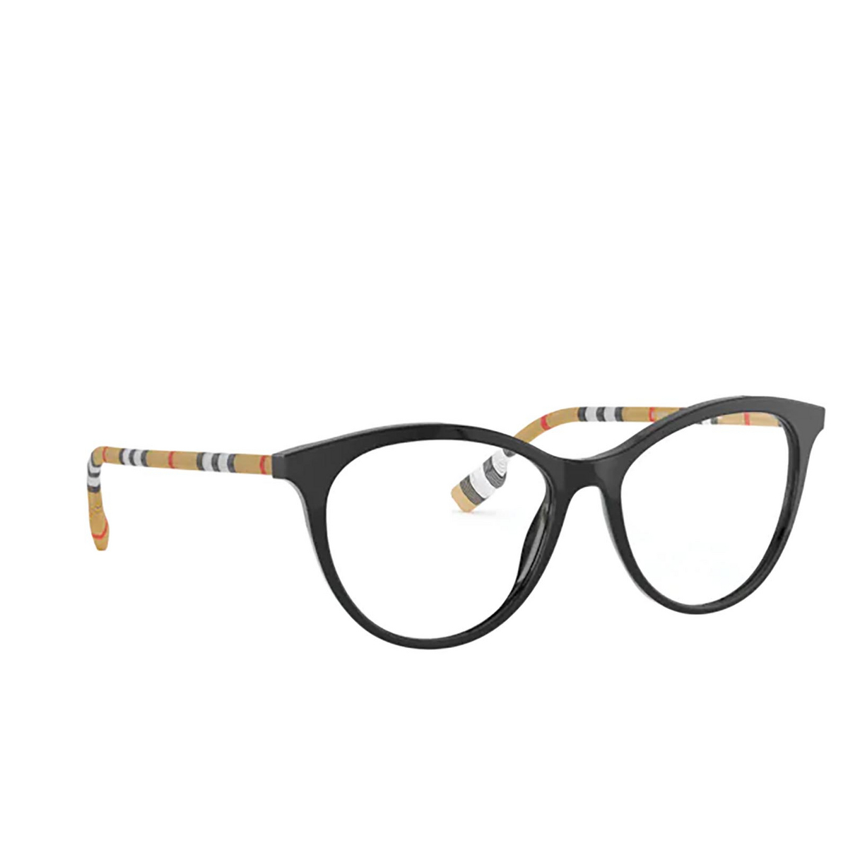 Burberry® Butterfly Eyeglasses: Aiden BE2325 color Black 3853 - three-quarters view.