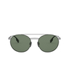 Burberry® Round Sunglasses: BE3109 color Gunmetal / Matte Green 100371 - product thumbnail 1/3.