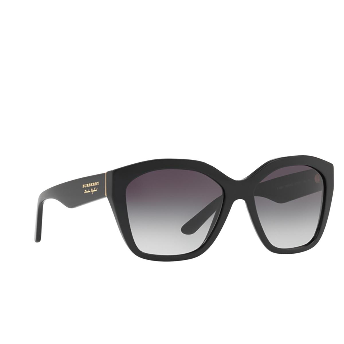 Burberry® Irregular Sunglasses: BE4261 color Black 30018G - three-quarters view.