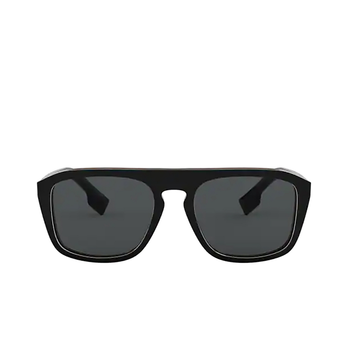 Burberry® Square Sunglasses: BE4286 color Check Multilayer Black 379881 - front view.