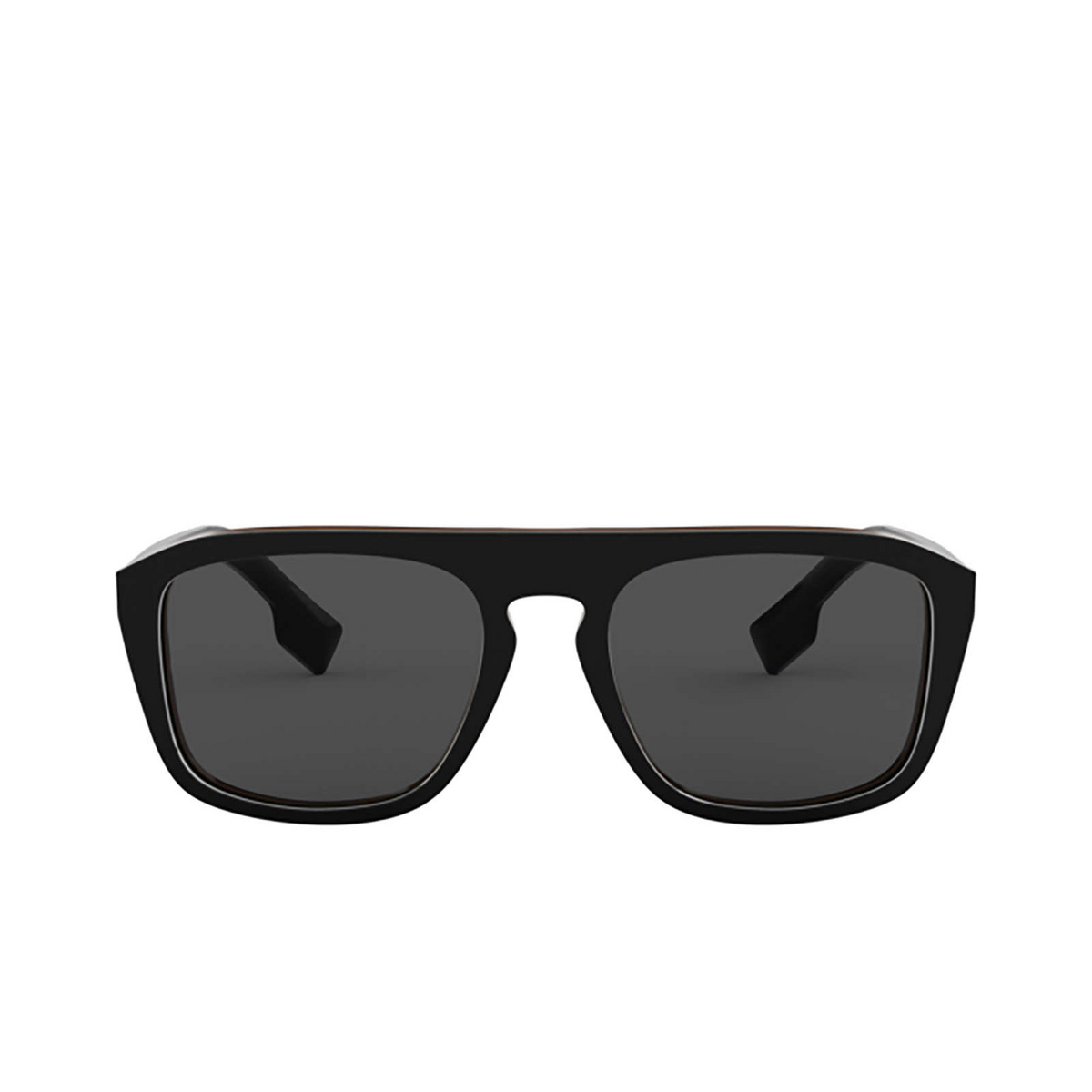 Burberry® Square Sunglasses: BE4286 color Check Multilayer Black 379887 - front view.