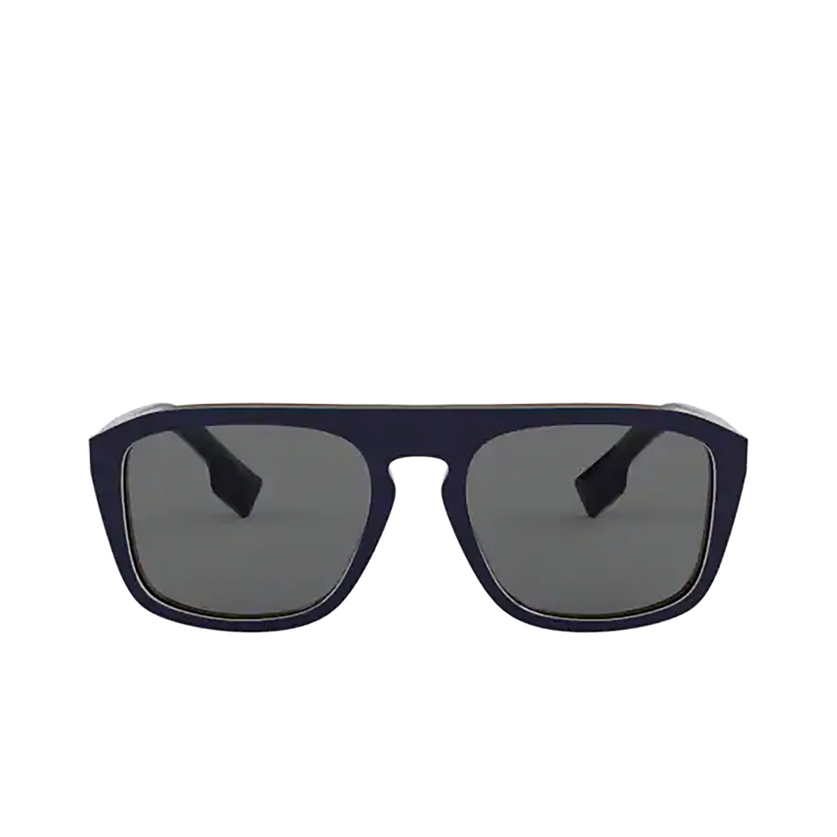 Burberry® Square Sunglasses: BE4286 color Check Multilayer Blue 379987 - front view.