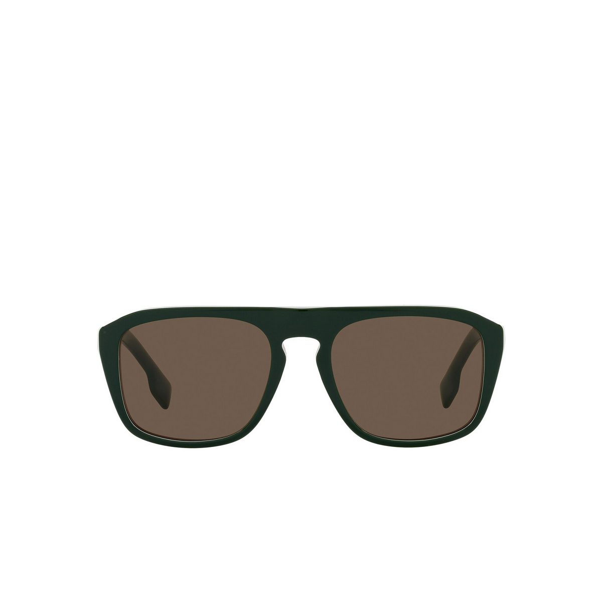 Burberry® Square Sunglasses: BE4286 color Green 392773 - front view.