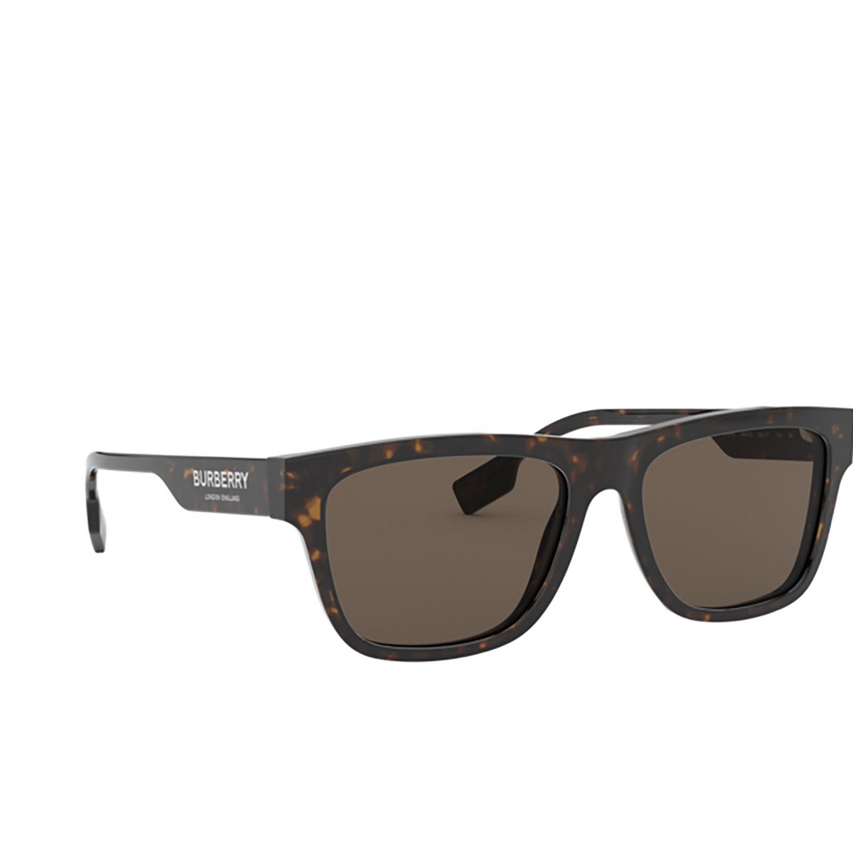 Burberry® Square Sunglasses: BE4293 color Dark Havana 3002/3 - three-quarters view.