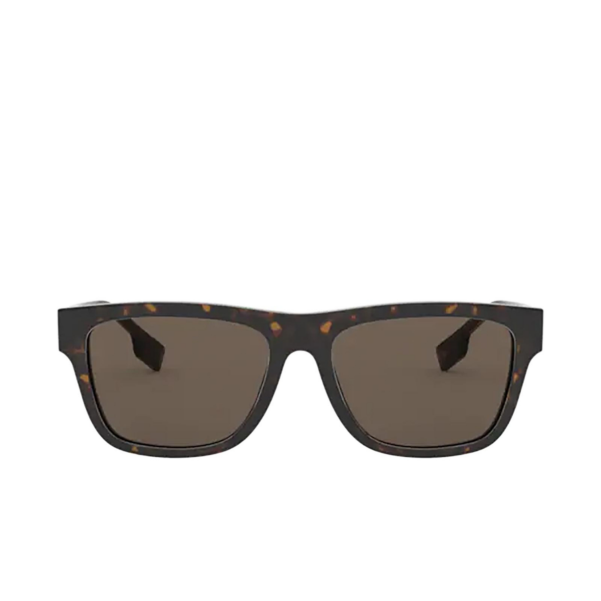 Burberry® Square Sunglasses: BE4293 color Dark Havana 3002/3 - front view.