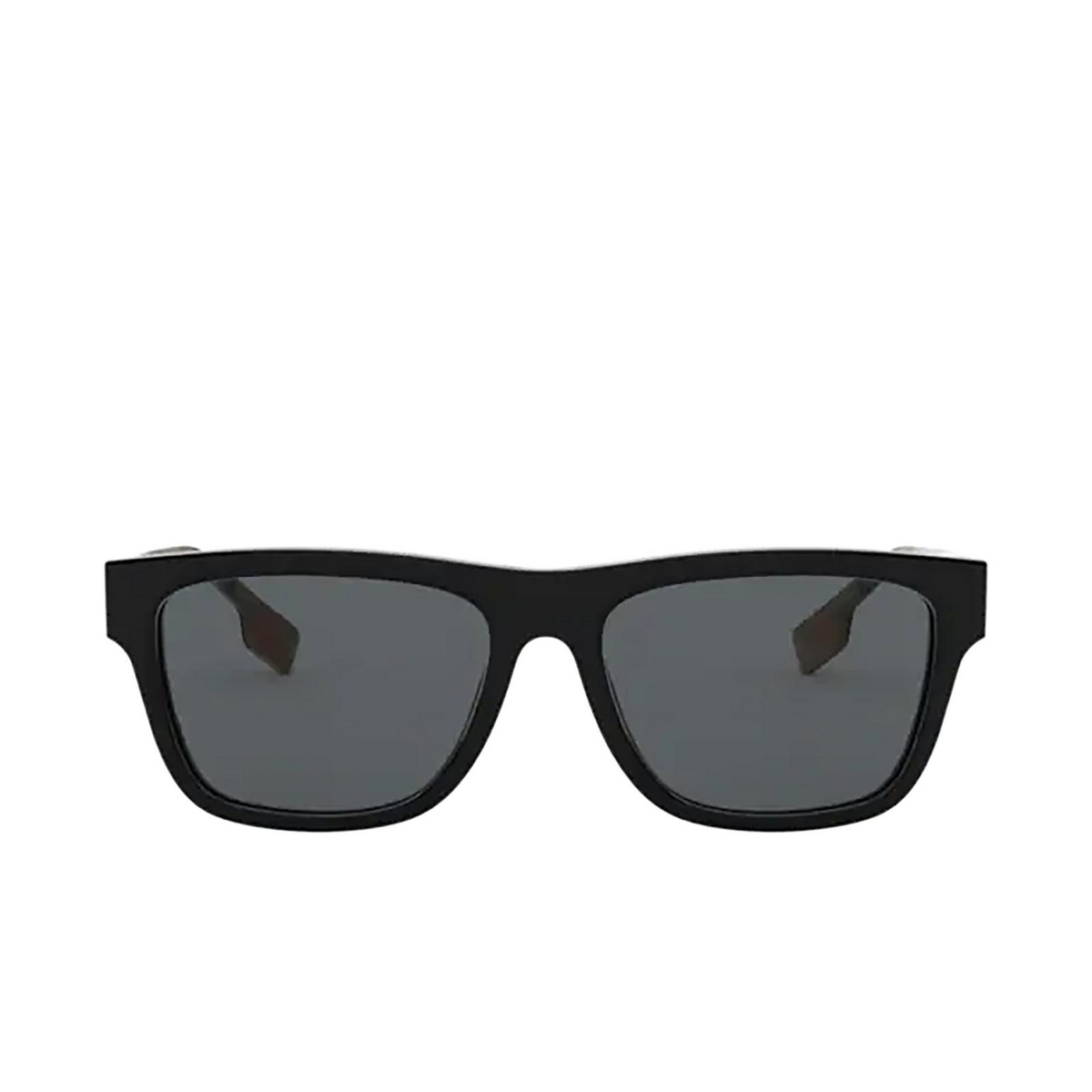 Burberry® Square Sunglasses: BE4293 color Black 377381 - front view.