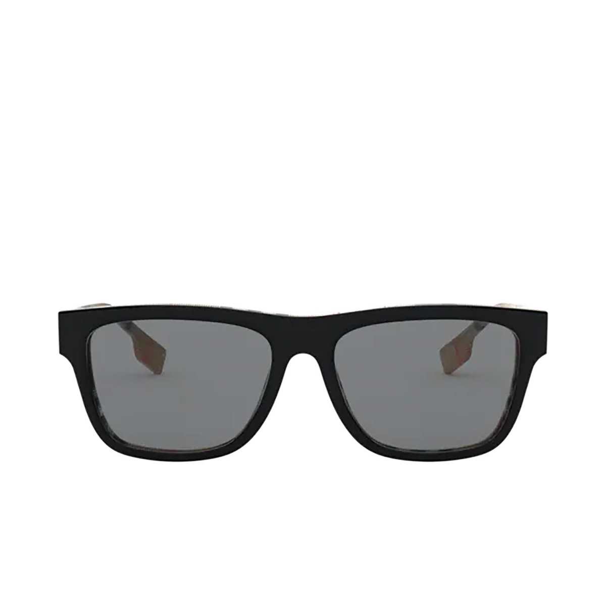 Burberry® Square Sunglasses: BE4293 color Top Black On Vintage Check 380687 - front view.