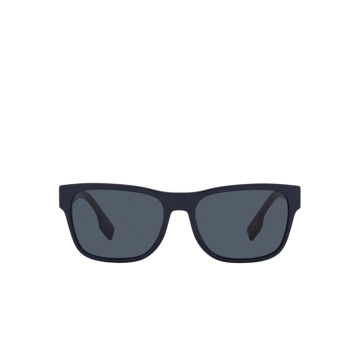 Burberry® Square Sunglasses: BE4309 color Matte Black 346487 - front view.