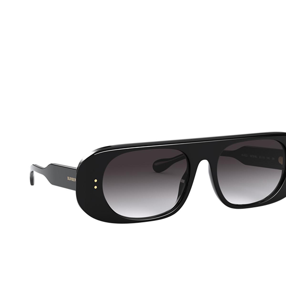 Burberry® Square Sunglasses: BE4322 color Black 38788G - 2/3.