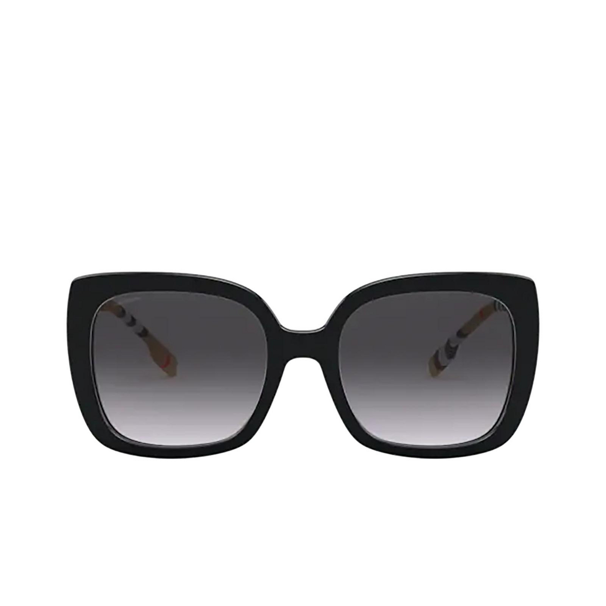 Burberry® Square Sunglasses: Caroll BE4323 color Black 38538G - front view.