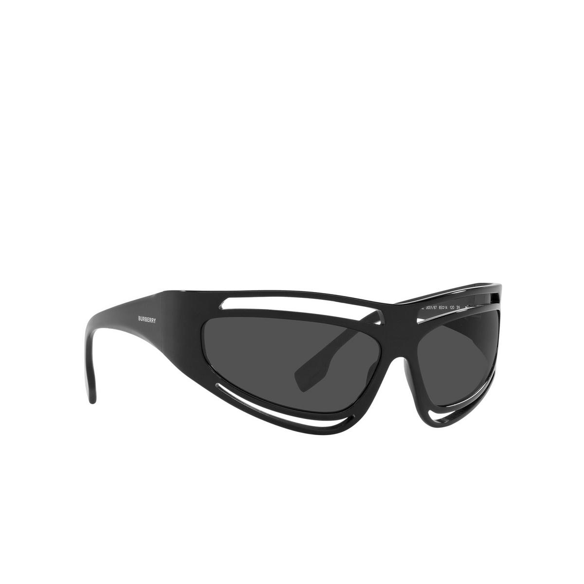 Burberry® Sport Sunglasses: BE4342 color Black 300187 - three-quarters view.