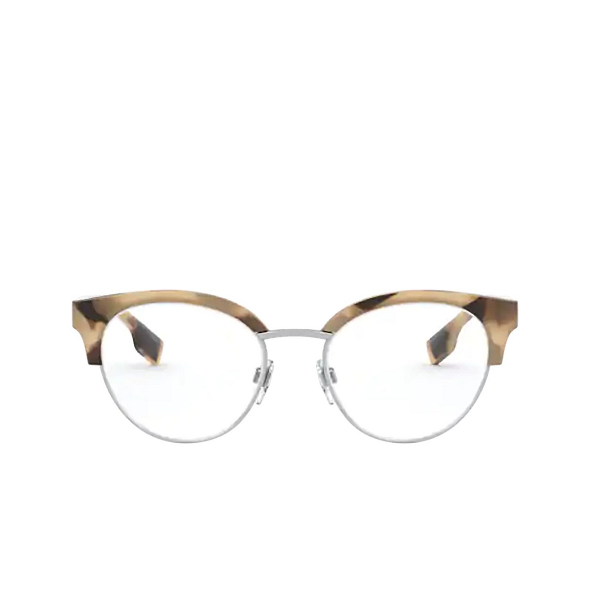 Burberry® Round Eyeglasses: Birch BE2316 color Spotted Horn / Silver 3501 - front view.