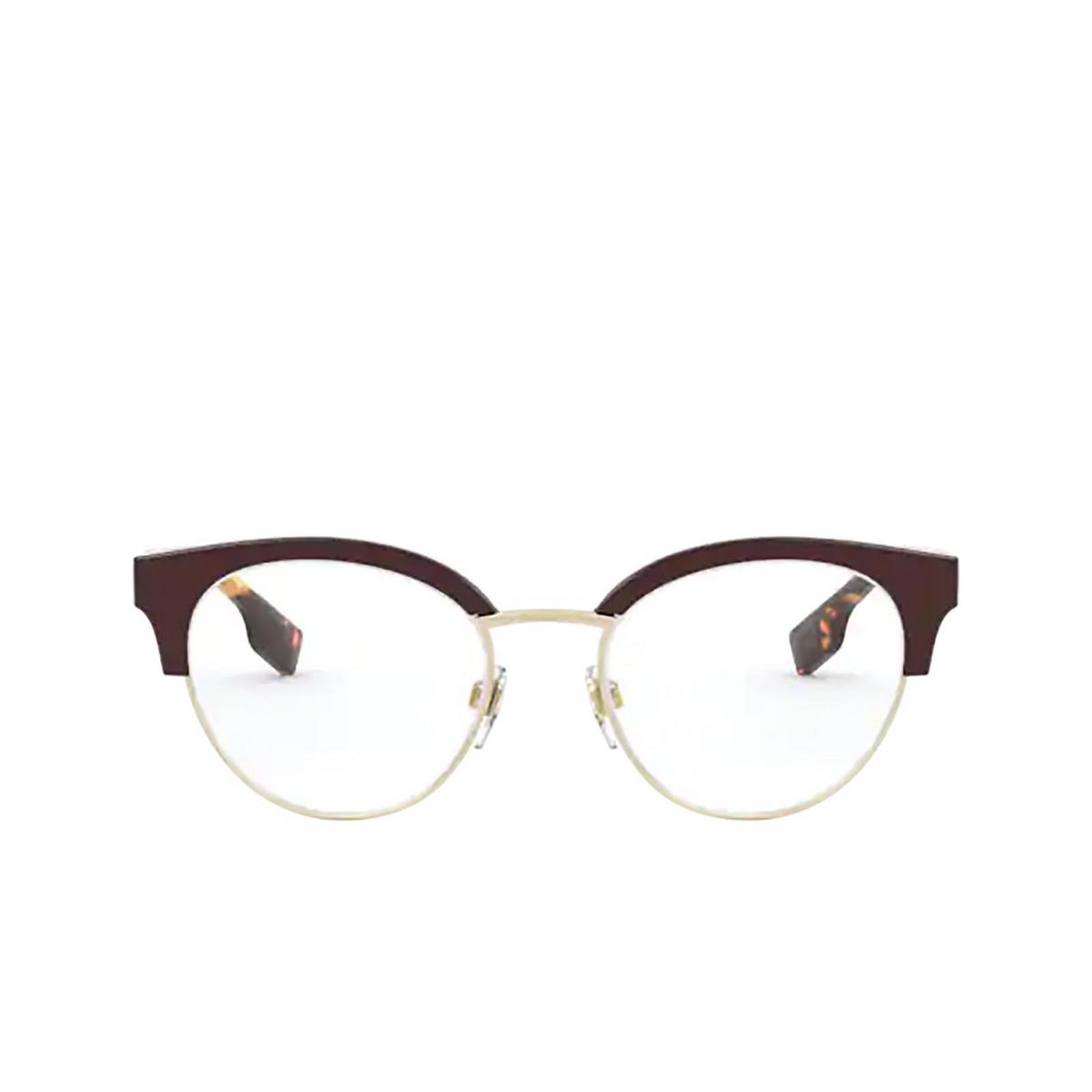 Burberry® Round Eyeglasses: Birch BE2316 color Bordeaux / Pale Gold 3869 - front view.
