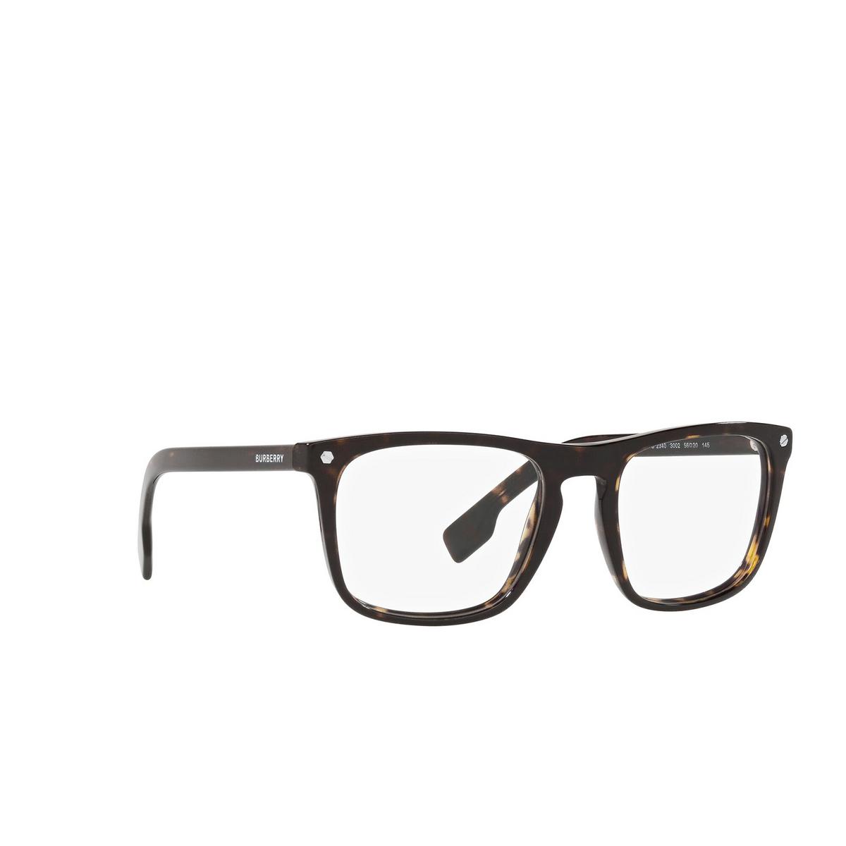 Burberry® Square Eyeglasses: Bolton BE2340 color Havana 3002 - three-quarters view.