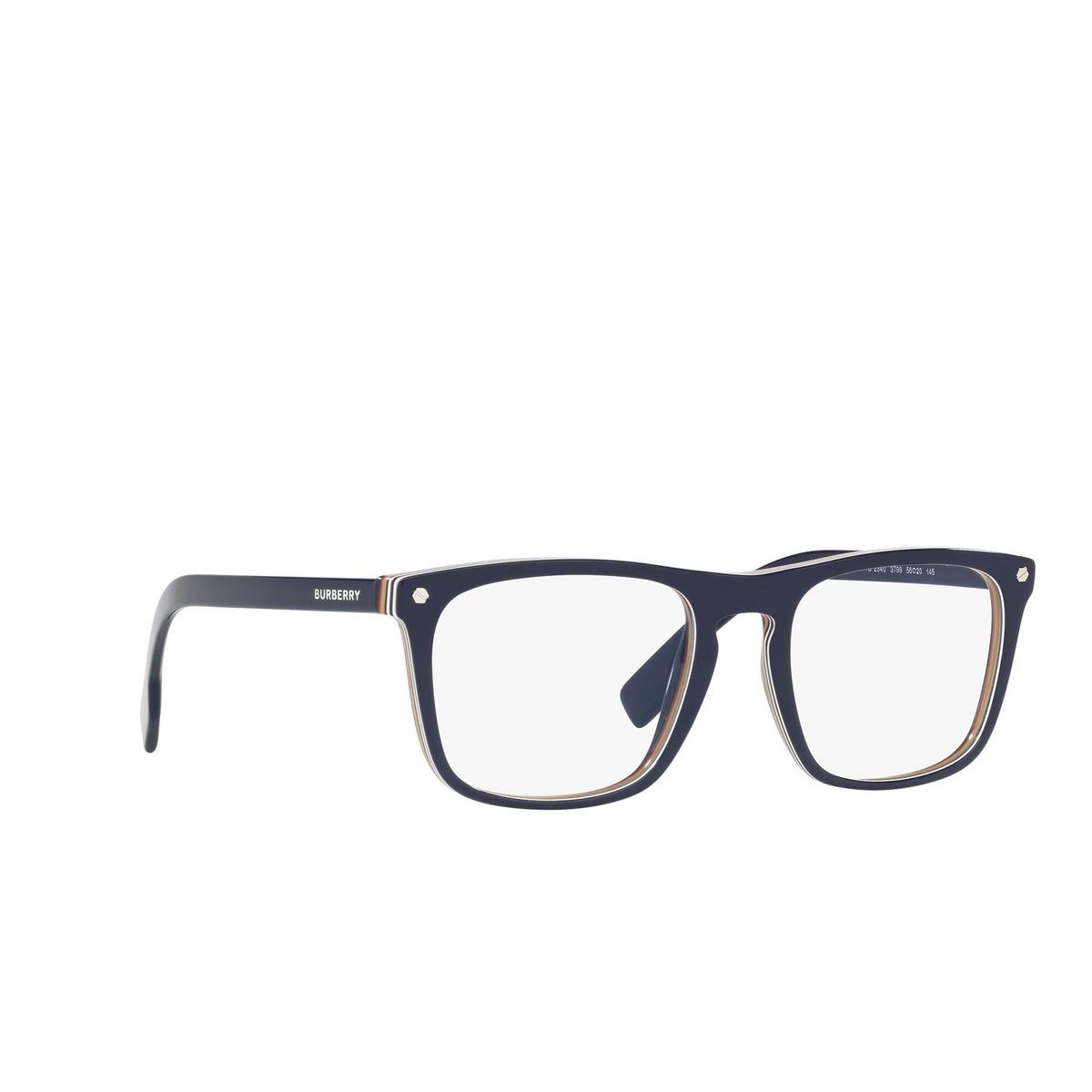 Burberry® Square Eyeglasses: Bolton BE2340 color Blue 3799 - three-quarters view.