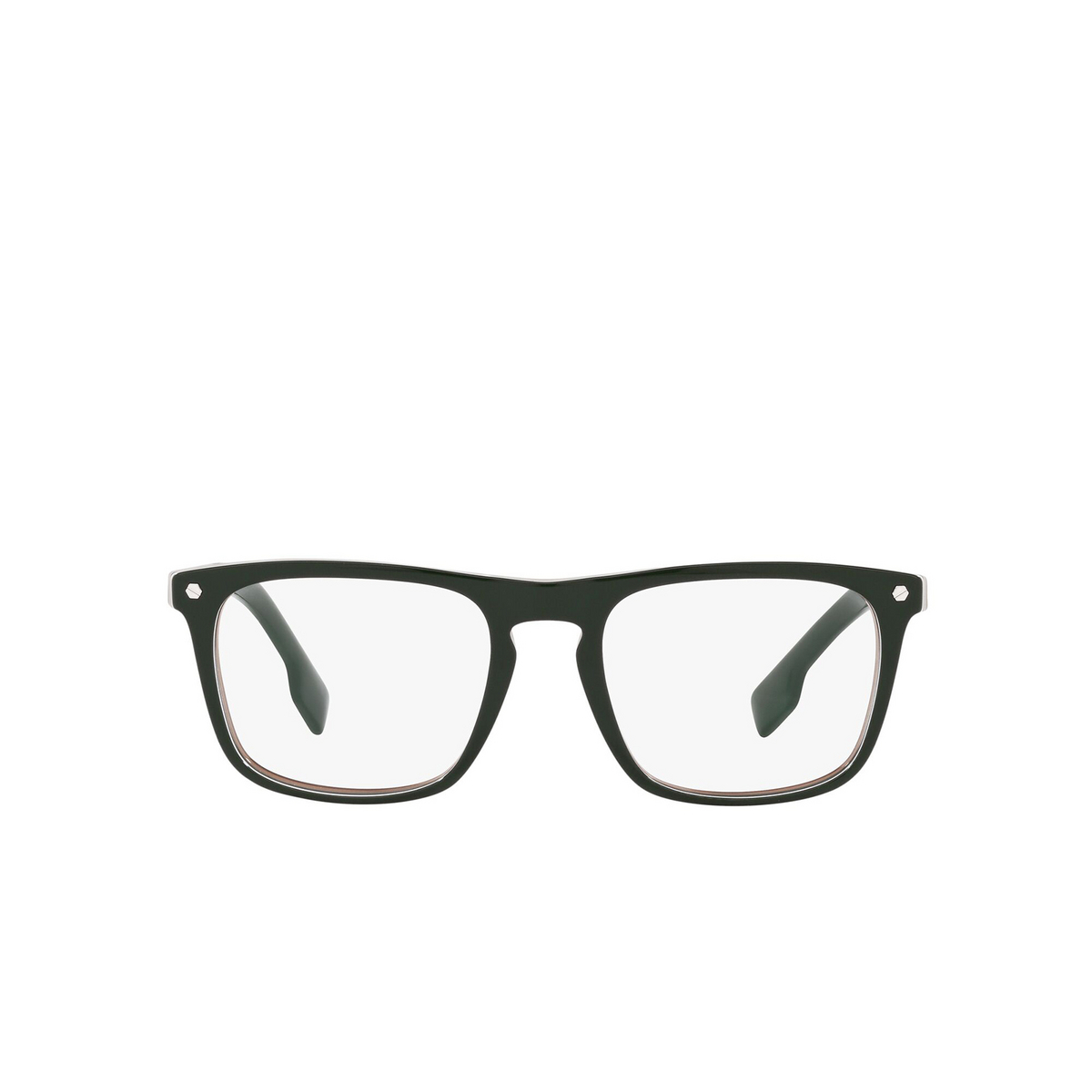 Burberry® Square Eyeglasses: Bolton BE2340 color Green 3927 - front view.