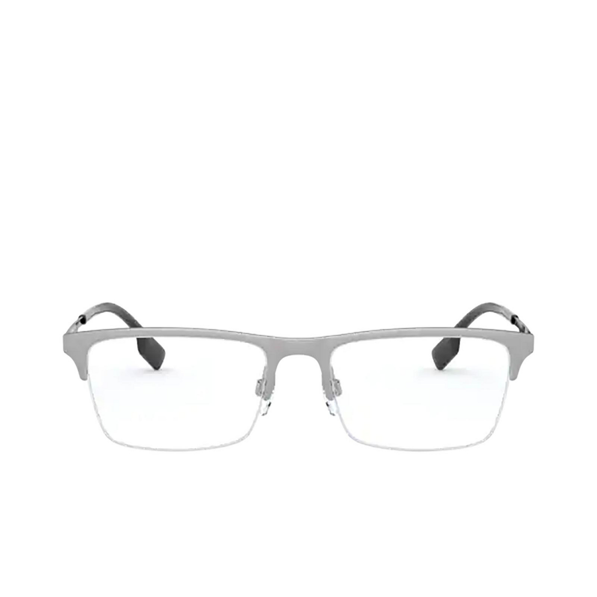 Burberry® Rectangle Eyeglasses: Brunel BE1344 color Silver 1166 - front view.