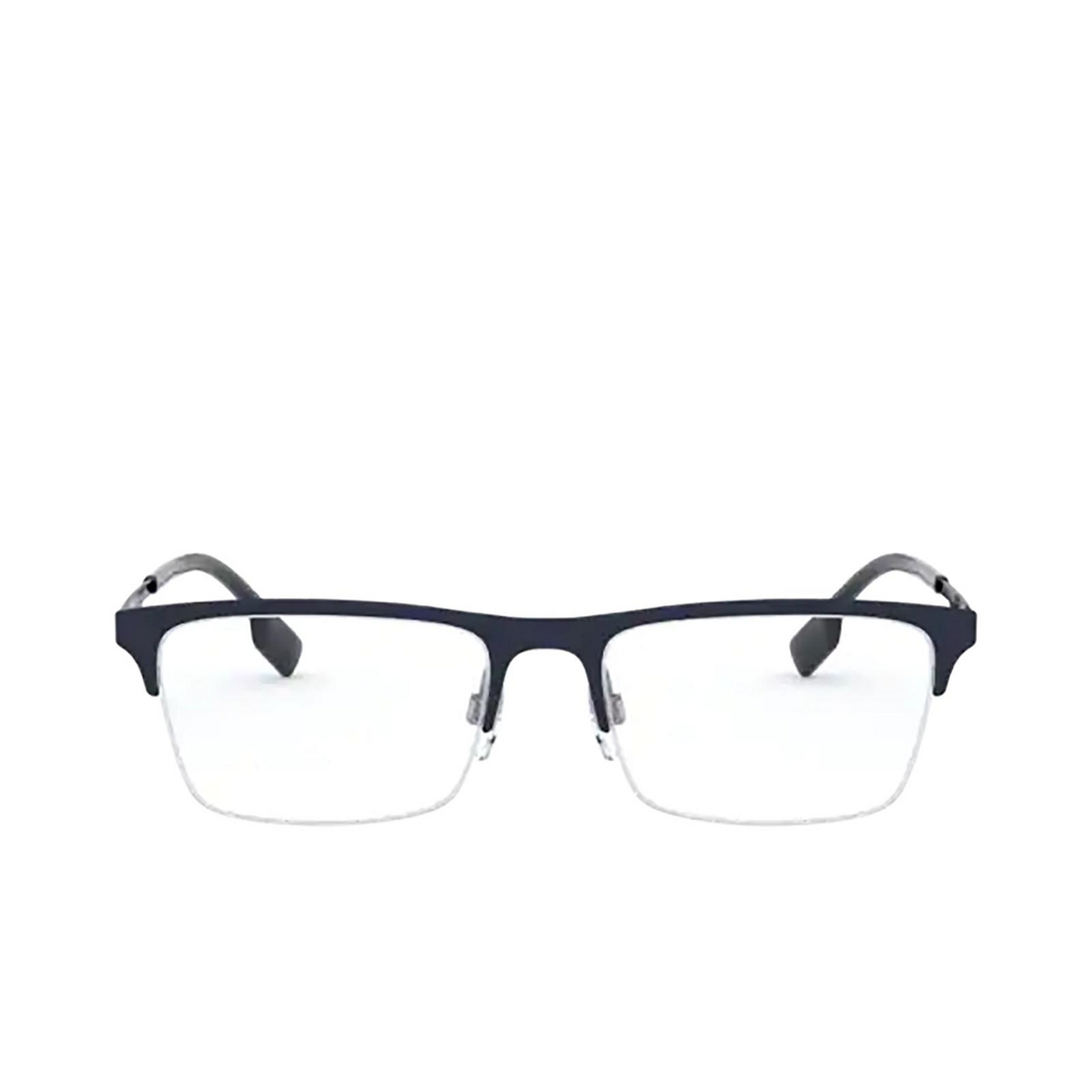 Burberry® Rectangle Eyeglasses: Brunel BE1344 color Matte Blue 1274 - front view.