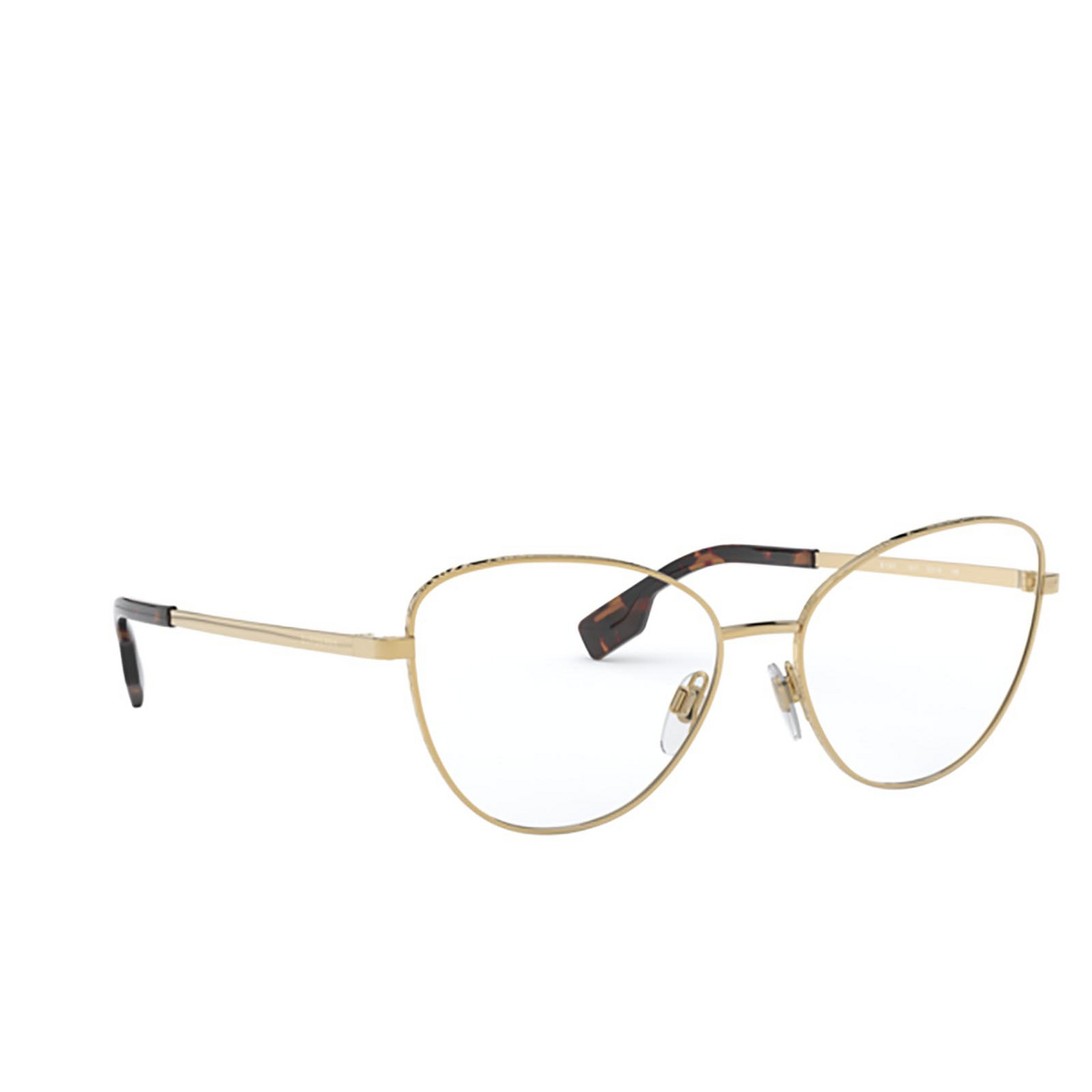 Burberry® Eyeglasses: Calcot BE1341 color Gold 1017 - front view.