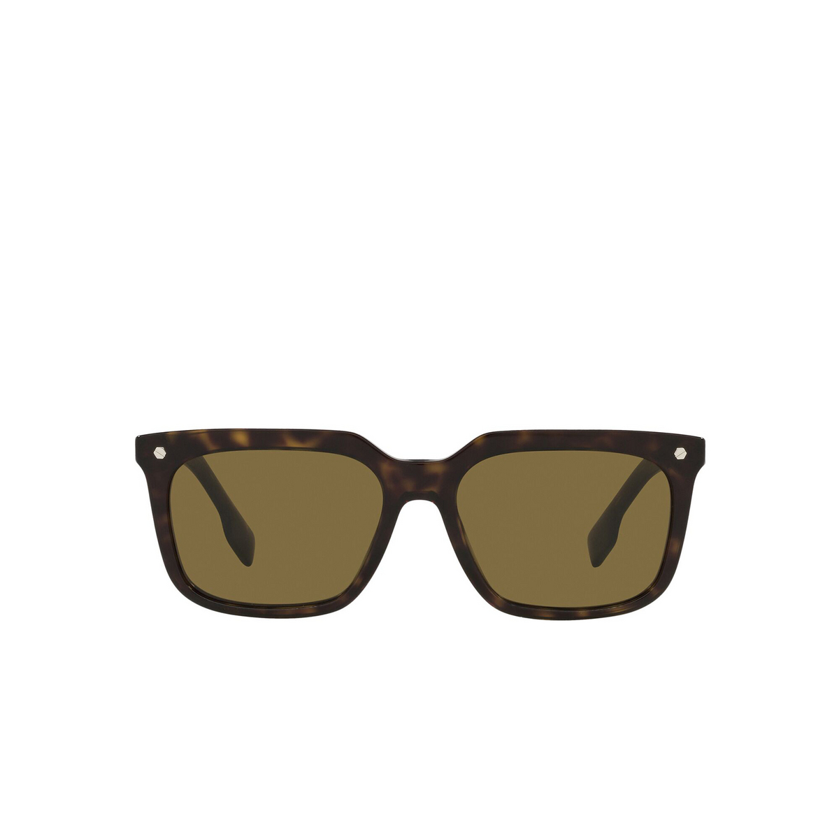 Burberry® Square Sunglasses: Carnaby BE4337 color Dark Havana 300273 - front view.