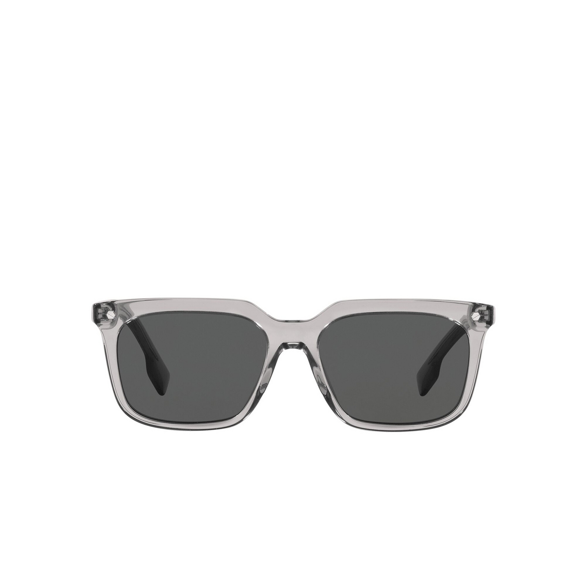 Burberry® Square Sunglasses: Carnaby BE4337 color Grey 302887 - front view.