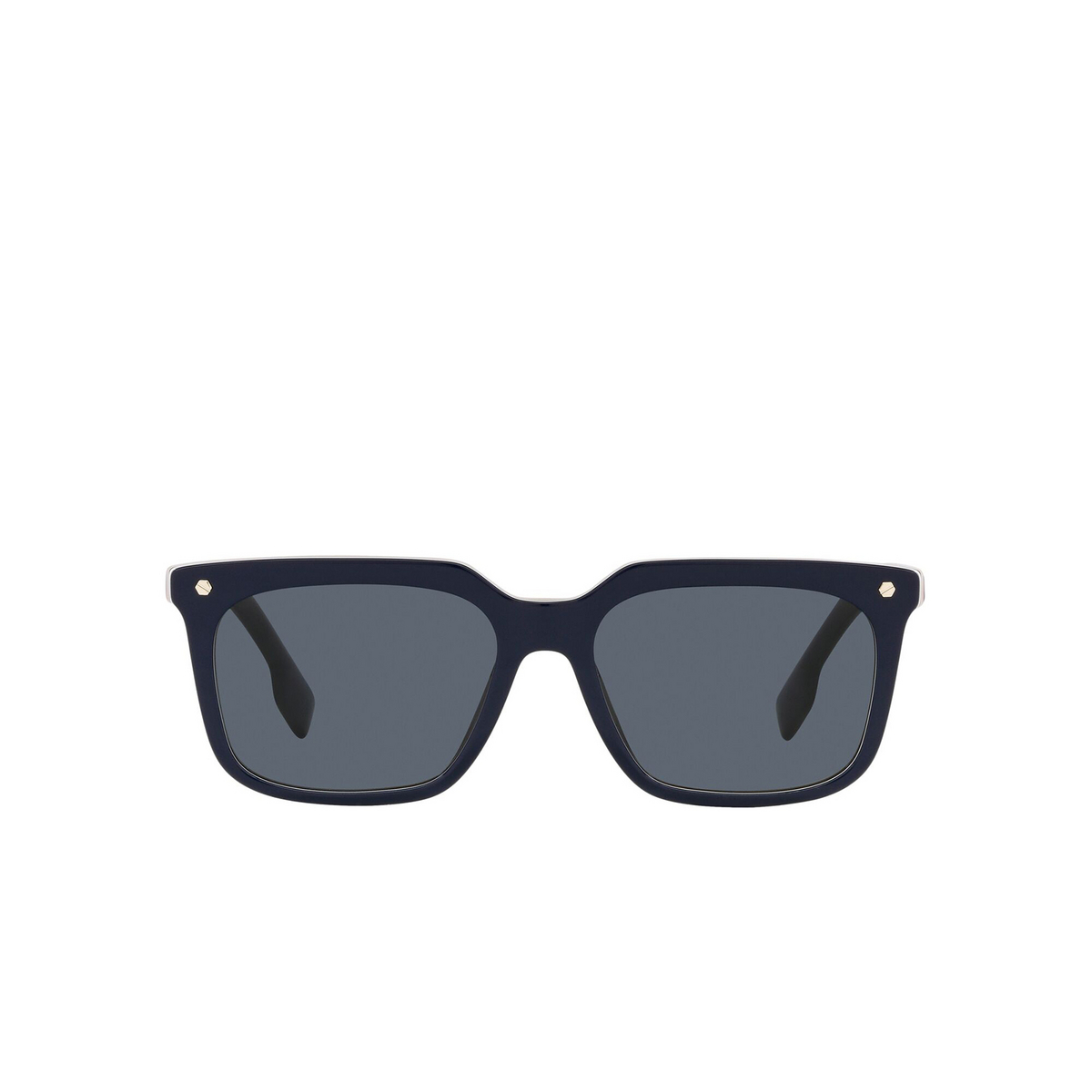 Burberry® Square Sunglasses: Carnaby BE4337 color Blue 379987 - front view.