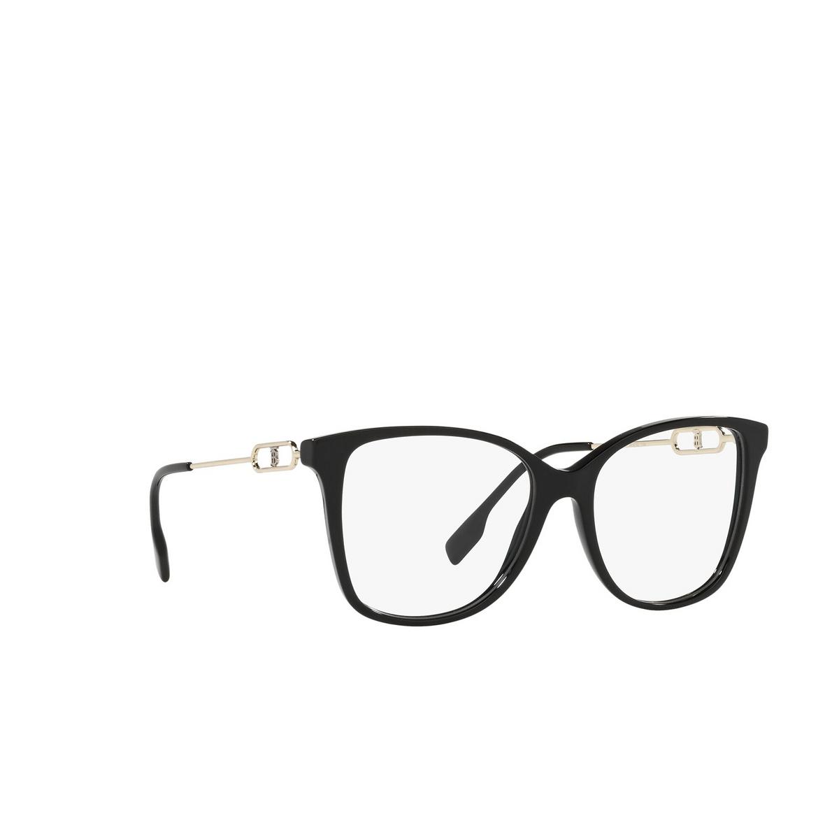 Burberry® Square Eyeglasses: Carol BE2336 color Black 3001 - three-quarters view.
