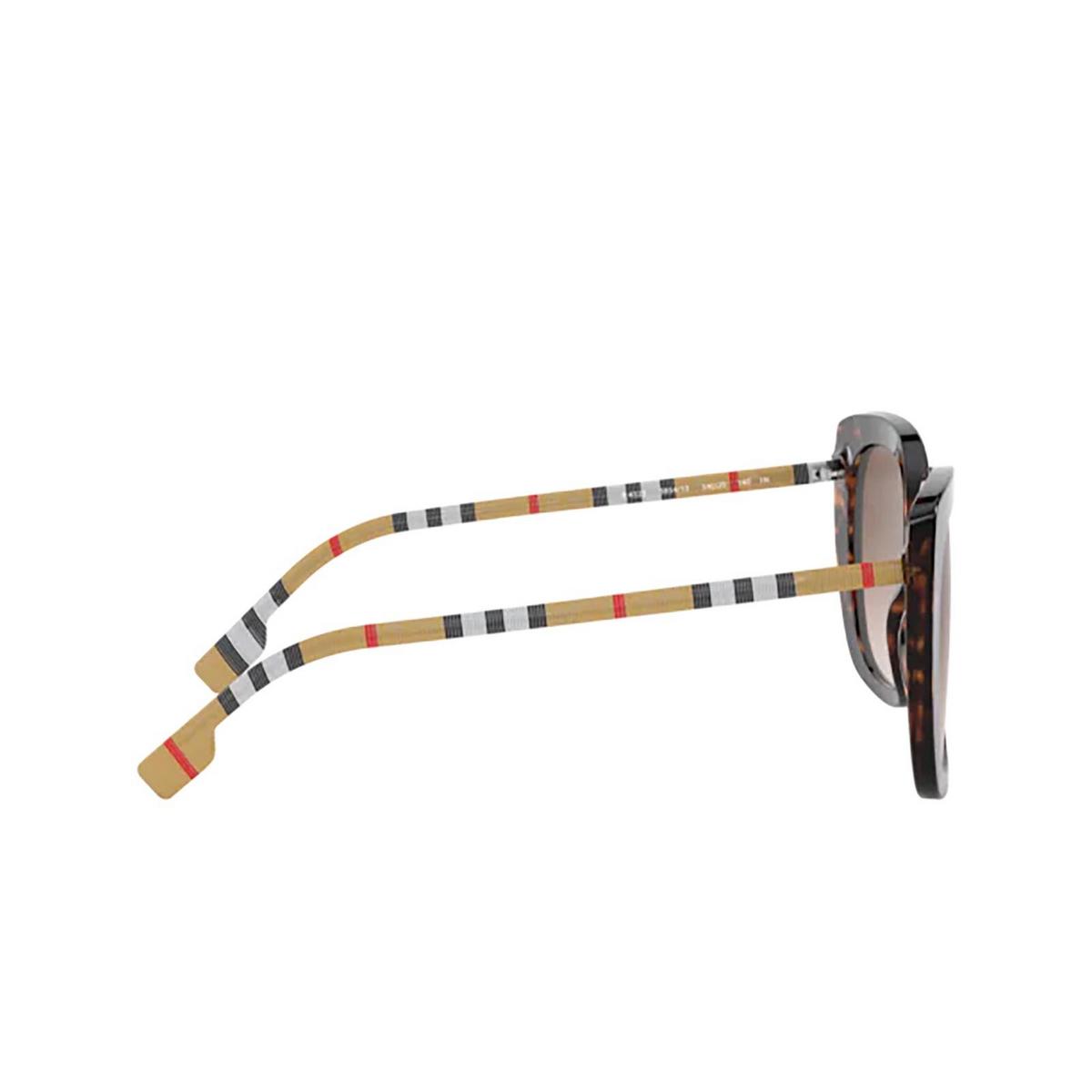 Burberry® Square Sunglasses: Caroll BE4323 color Dark Havana 385413 - three-quarters view.