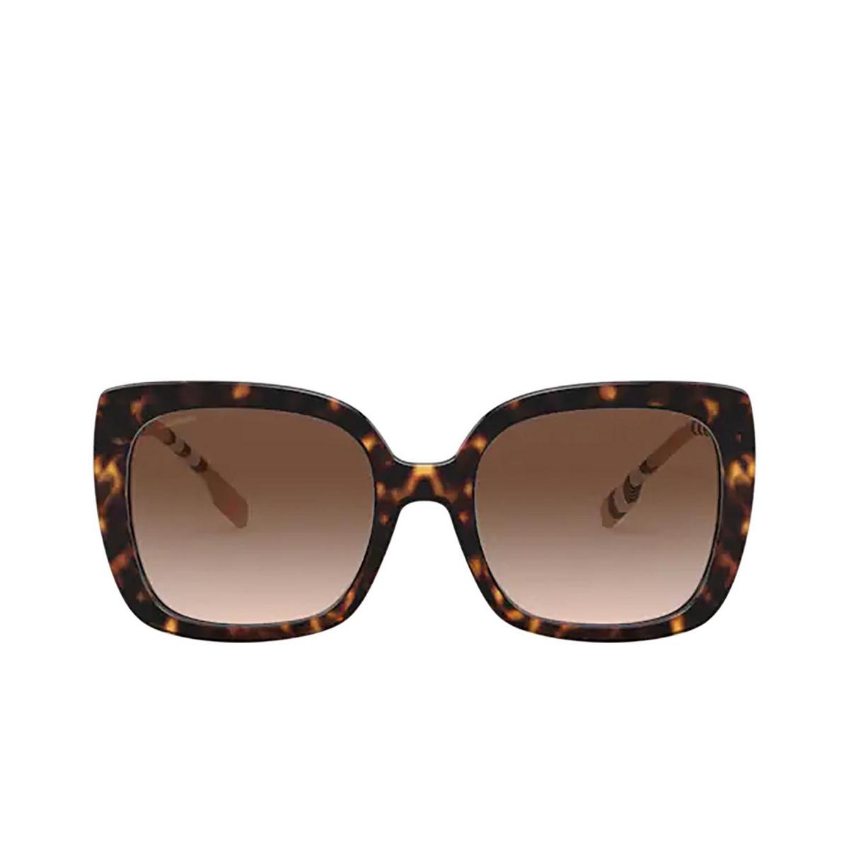 Burberry® Square Sunglasses: Caroll BE4323 color Dark Havana 385413 - front view.