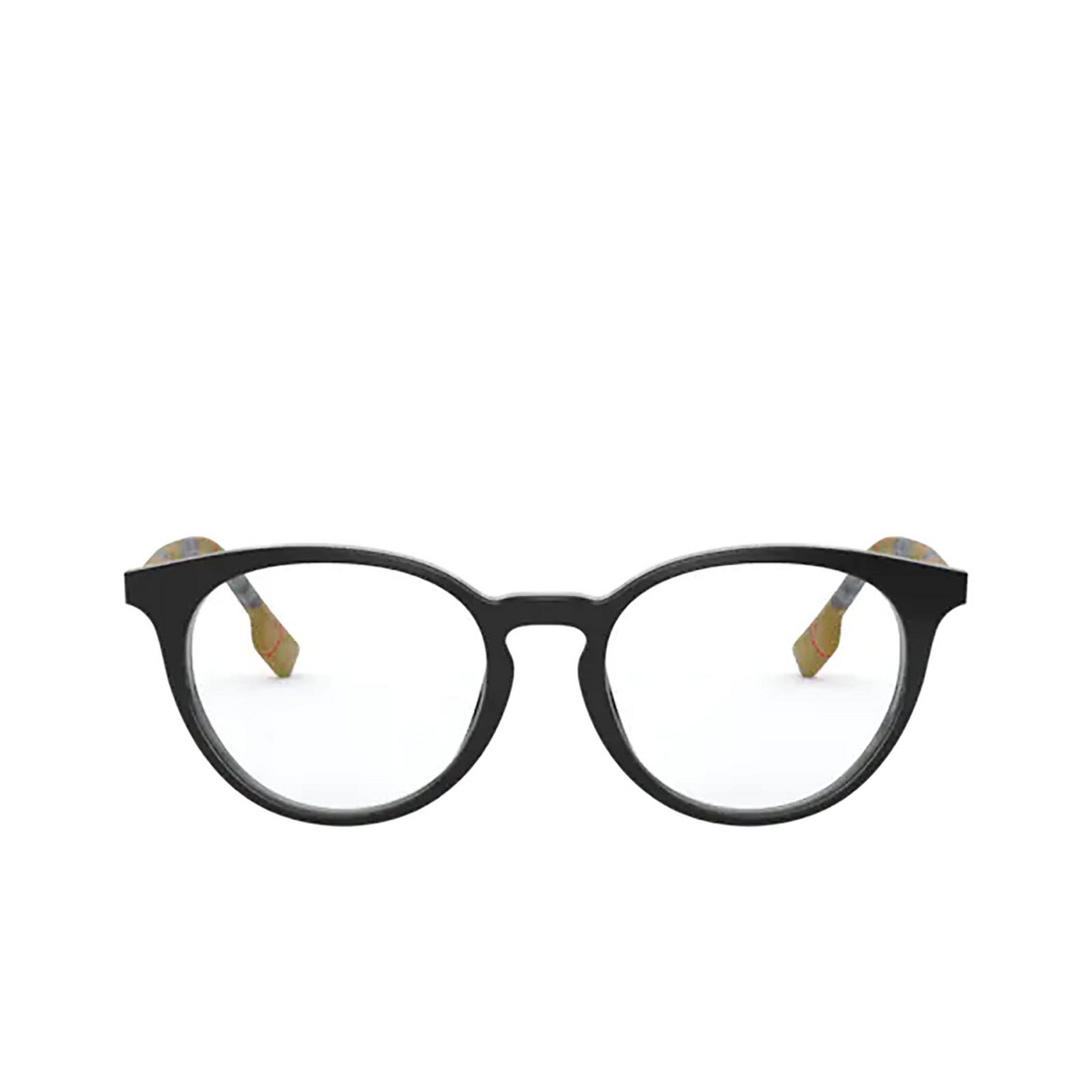 Burberry® Round Eyeglasses: Chalcot BE2318 color Black 3853 - front view.