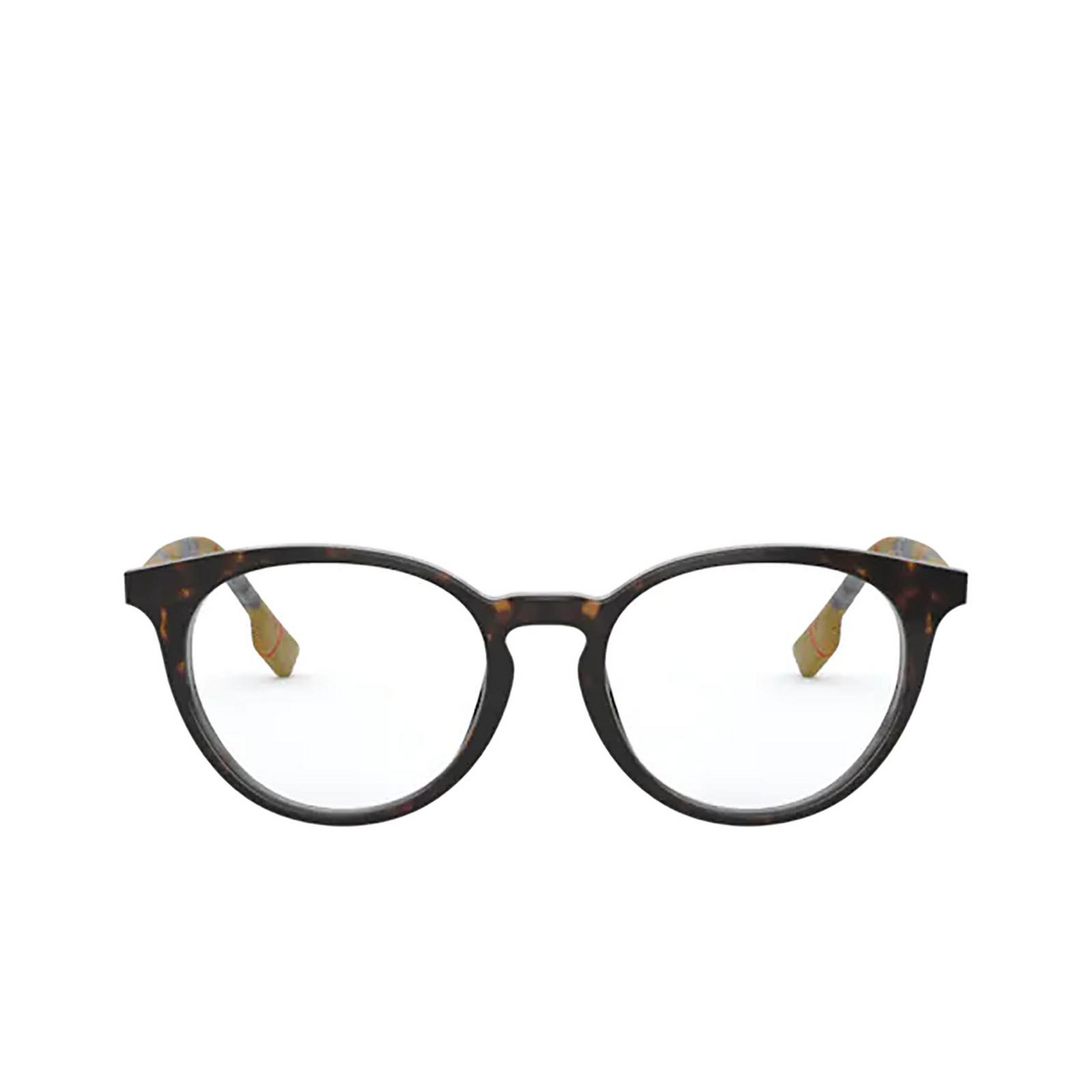 Burberry® Round Eyeglasses: Chalcot BE2318 color Dark Havana 3854 - front view.