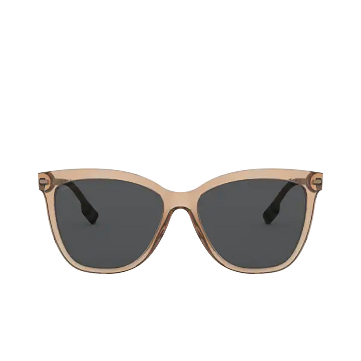 Burberry® Square Sunglasses: Clare BE4308 color Transparent Brown 385687.